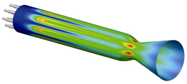 Pressure contour plot.